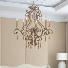 <strong>Crystorama</strong> Shelby 6 Light Chandelier