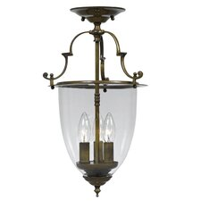 Bell Jar 3 Light Convertible Foyer Pendant