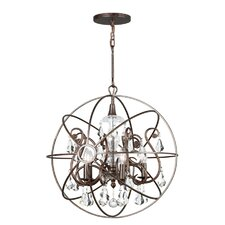 <strong>Crystorama</strong> Solaris 5 Light Chandelier