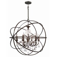 <strong>Crystorama</strong> Solaris 6 Light Chandelier