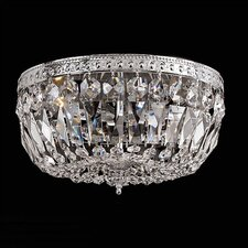 Bohemian Crystal 3 Light Flush Mount