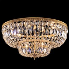 Bohemian Crystal 6 Light Flush Mount