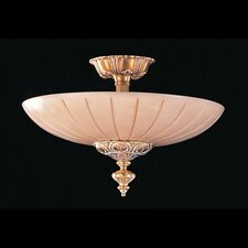 <strong>Crystorama</strong> Bravado Alabaster 3 Light Semi Flush Mount