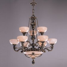 Bravado Alabaster 12 Light Chandelier