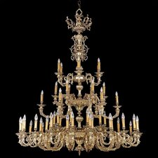 Olde World 55 Light Candle Chandelier