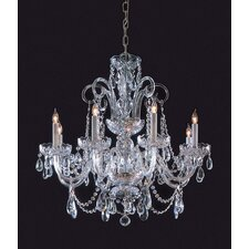 Bohemian Crystal 8 Light Candle Chandelier