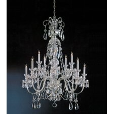 <strong>Crystorama</strong> Bohemian 10 Light Crystal Chandelier