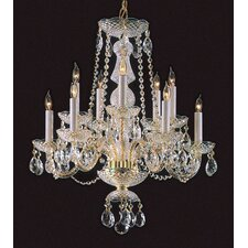 Bohemian 10 Light Crystal Candle Chandelier