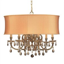 <strong>Crystorama</strong> Brentwood 6 Light Chandelier