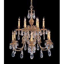 <strong>Crystorama</strong> Novella 6 Light Chandelier in Olde Brass