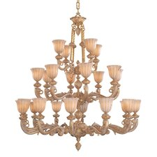Bravado Alabaster 24 Light Chandelier