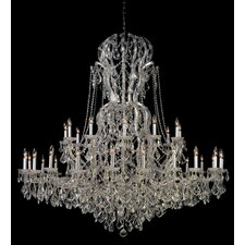 Bohemian Crystal 37 Light Candle Chandelier