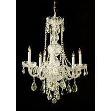 <strong>Crystorama</strong> Traditional Crystal 6 Light Chandelier