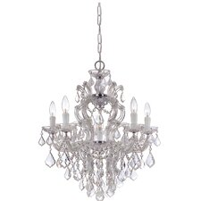 Maria Theresa Six Light Swarovski Elements Chandelier