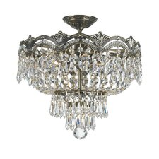 Majestic 3 Light Semi Flush Mount