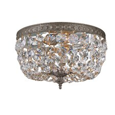 Crystal Basket 2 Light Flush Mount