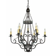 Brookshire Manor 9 Light Chandelier