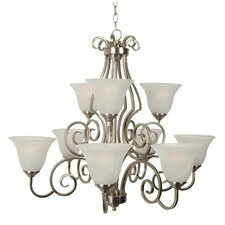 Builder 9 Light Chandelier