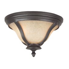 <strong>Jeremiah</strong> Frances II 2 Light Outdoor Flush Mount
