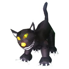 Animated Inflatable Lighted Cat Halloween Decoration
