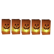 Halloween Pumpkin Luminary (Set of 5)