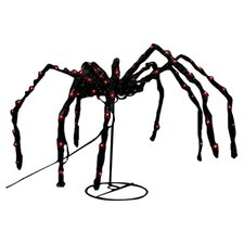 Fuzzy Swaying Spider Halloween Decoration