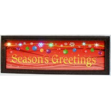 "Picture with Wooden Frame Seasons ""Greetings"""