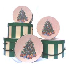 Tradition Tree Round Hat Box Nested in Each Other (Set of 6)