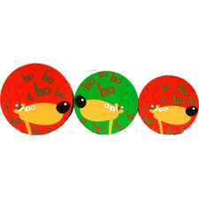 Round HoHoHo Deer Cookie Boxes (Set of 3)