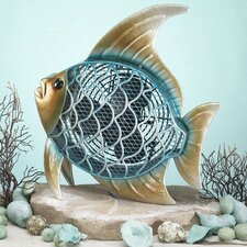 <strong>Deco Breeze</strong> Tropical Fish Figurine Table Top Fan