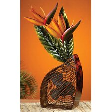 Bird of Paradise Figurine Table Top Fan