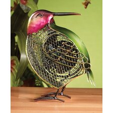 Small Hummingbird Figurine Table Top Fan