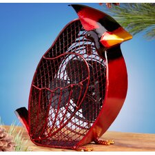 <strong>Deco Breeze</strong> Cardinal Figurine Table Top Fan