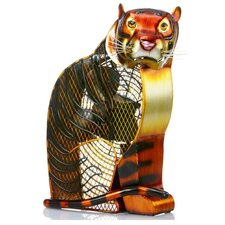 <strong>Deco Breeze</strong> Bengal Tiger Figurine Table Top Fan