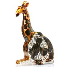 <strong>Deco Breeze</strong> Giraffe Figurine Table Top Fan