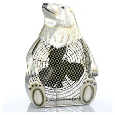 Polar Bear Figurine Table Top Fan