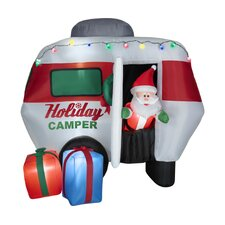 Airblown Animated Santa in Holiday Camper Christmas Decoration
