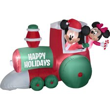 Airblown Train with Mickey and Minnie Scene