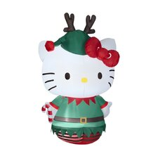 Airblown Hello Kitty Dressed as an Elf Christmas Decoration