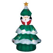 Airblown Animated Santa Rising from Tree Christmas Decoration