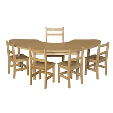 <strong>Wood Designs</strong> Half Circle High Pressure Laminate Table (Adjustable Legs)