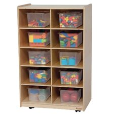 Folding Vertical Storage Unit 10 Compartment Cubby