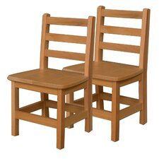 "Woodie 13"" Plywood Classroom Stackable Tot Chair (Set of 2)"