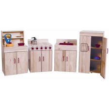 Heritage 4 Piece Maple Kitchen Appliances Set