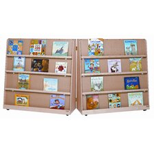 "<strong>Wood Designs</strong> 48"" Folding Double Sided Book Display"