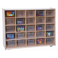<strong>Wood Designs</strong> Tip-Me-Not Twenty Five Tray Storage Unit