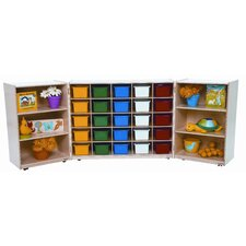Tri Fold Storage Unit with Assorted Trays