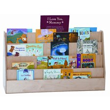 <strong>Wood Designs</strong> Extra Wide Double Sided Book Display