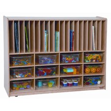 <strong>Wood Designs</strong> Tip-Me-Not Twelve Tray Portfolio Storage Center