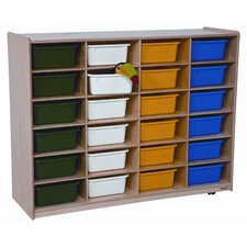 <strong>Wood Designs</strong> Twenty Four Large Tray Storage Unit with Assorted Trays